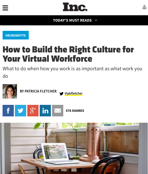 How to Build The Right Culture for Your Global Workforce, an Interview on Inc.com