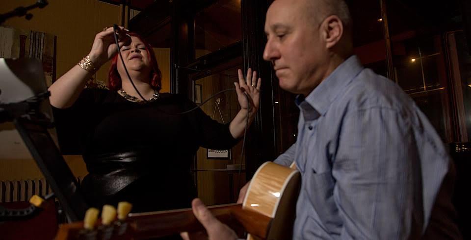Krebs and Johnston perform. Photo courtesy of Sofia Imagery.