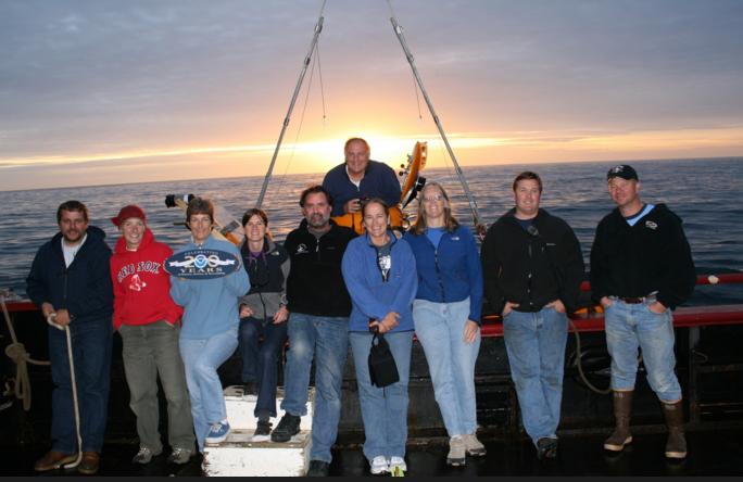 With NOAA Fish Habitat Science team Off Point Lobos,. 2007.