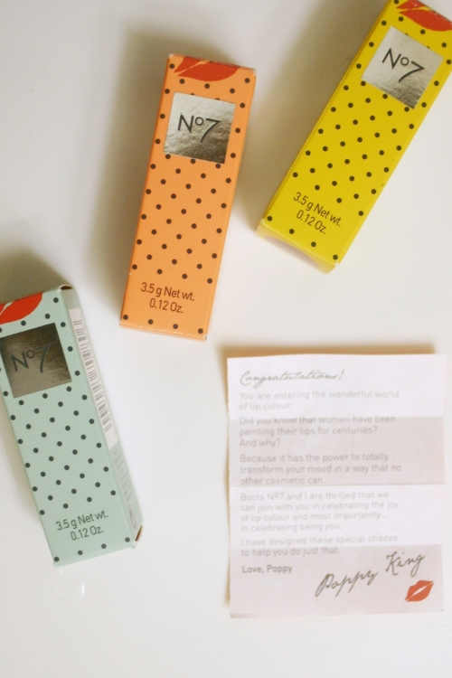 Look at the cute polka-dotted boxes! Each comes with a little note from Poppy inside.