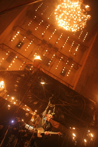 Performer at Fire Garden by Carabosse, Battersea Power Station (September 2014)