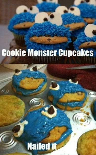 cookie monster nailed it