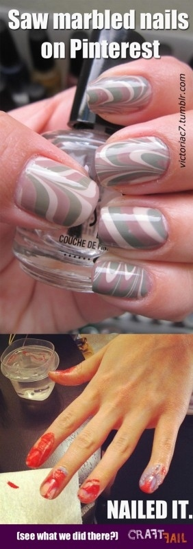 marbled nails nailed it pinterest