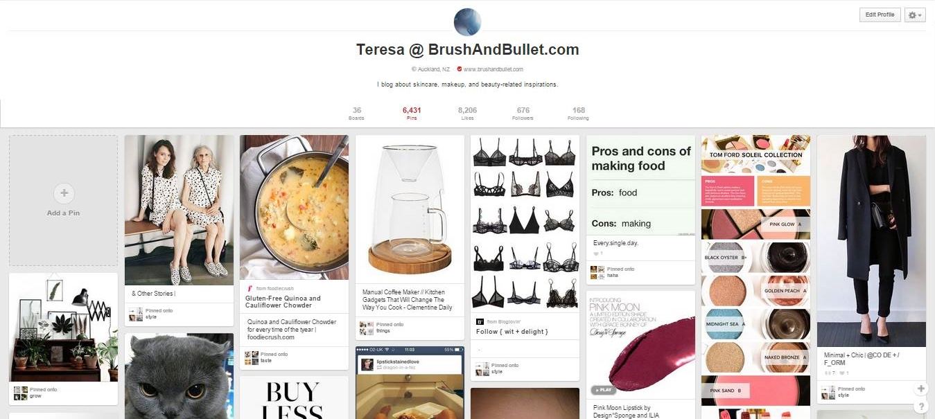 teresa brush and bullet pinterest