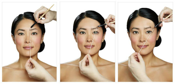 The Benefit brow mapping guide ( source )