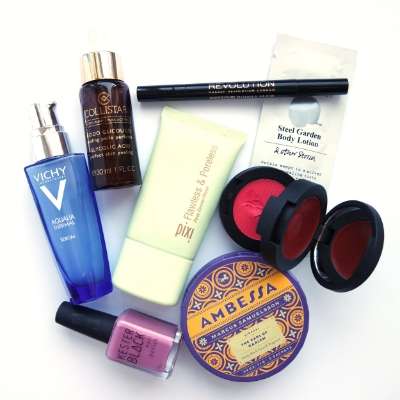 my beauty box picks vichy collistar pixi