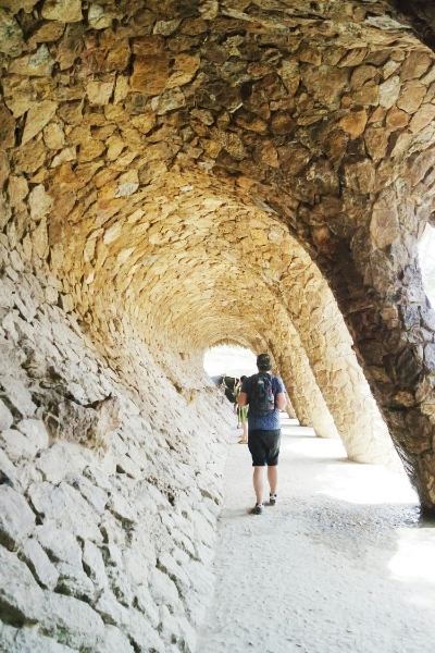 Under the viaducts at Park Guell