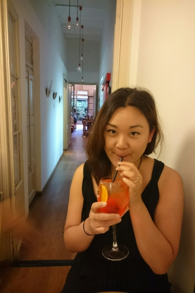 Sipping my Aperol Spritz