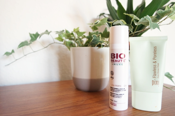 Bio Beaute by Nuxe Flash Perfection Beautifying Serum and Pixi Flawless and Poreless mattifying primer