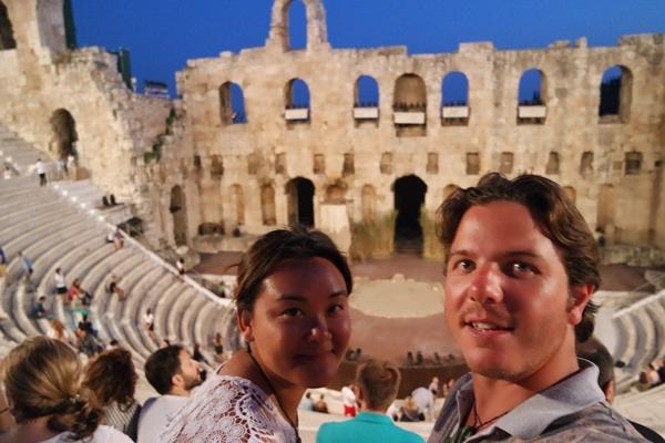 Odeon Herodes Atticus Selfie