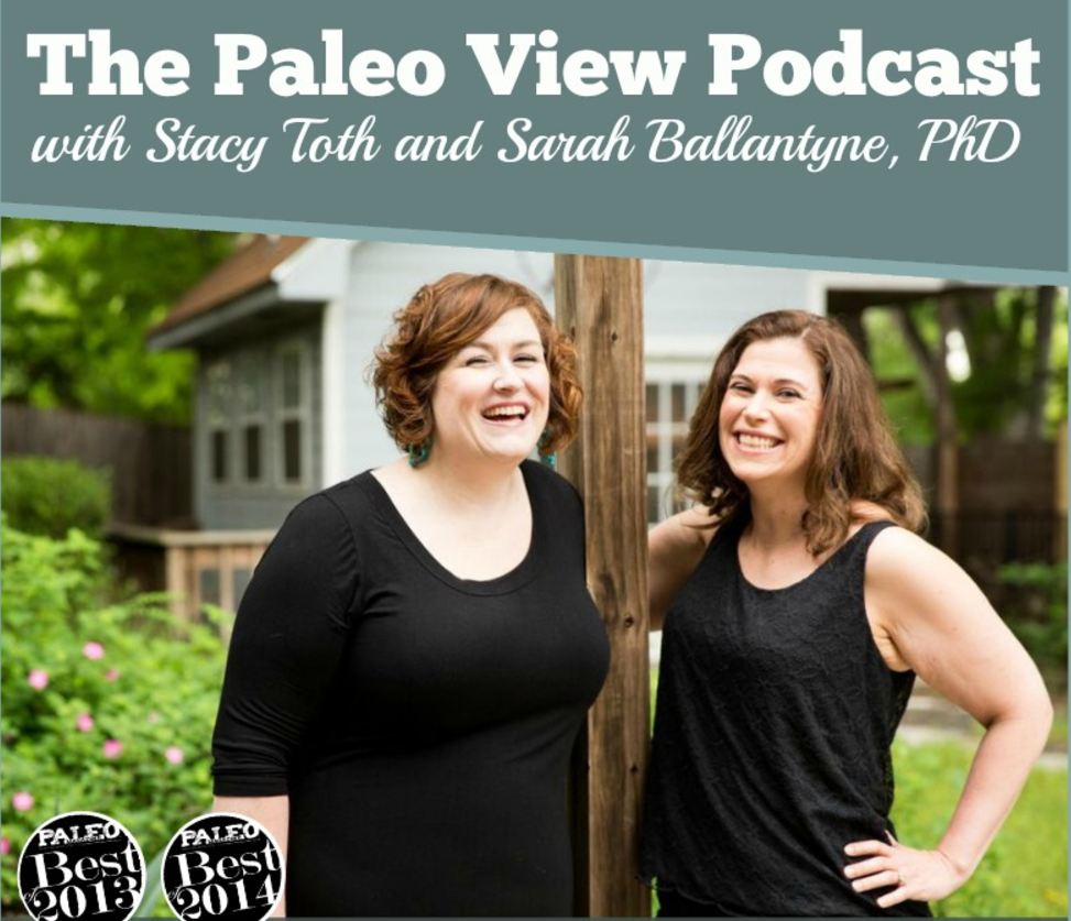 The Paleo View with Stacy Toth and Sarah Ballantyne - The Paleo View is an entertaining podcast with a specific show format that feels like you're having a conversation with your best friends. Aimed at helping people who want to live a healthy and eat real foods, the show focuses on nutrient density, low-inflammation lifestyles, medical research and science, and the hosts' own personal experiences.