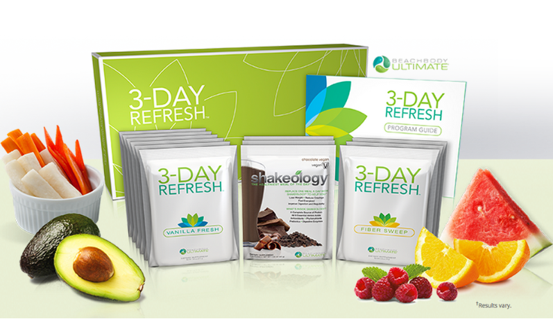 3 Day Refresh - Help jump start your weight loss program and help cleanse your system while you help break the cycle of bad eating with the 3-Day Refresh
