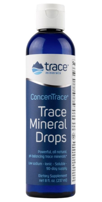 Trace Mineral Drops - ConcenTrace Trace Mineral Drops is an all natural mineral concentrate that's made by using ConcenFlo, our proprietary harvesting process. ConcenTrace contains over 72 naturally occurring ionic trace minerals from the Great Salt Lake with 99% sodium removed. Ideally, minerals should come from eating a raw food diet. However, even eating a raw food diet isn't enough since researchers have proven that soils have been depleted of minerals. Therefore, if it's not in the soil, it's not in the food. Here's where ConcenTrace comes in–taking ConcenTrace every day ensures you're getting a full spectrum of ionic trace minerals, which are the same kind of bioavailable ionic trace minerals that are found in foods. (Get it through the link below or register for a free Wellevate account above and buy it through me!)