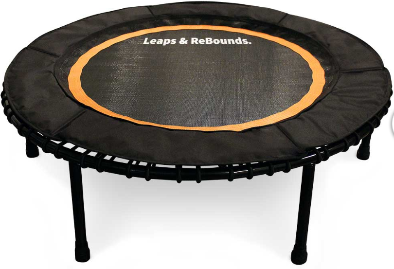 The Leaps & ReBounds Fitness Trampoline - Bungee Rebounder - Superior Quality with a lifetime warrantyQuiet bungees with a firm bounceNo Risk 30 day return policyEasy Transport with our screw off legsStress Free install bungee toolNO Springs!Fast and Free shipping anywhere in the US$209.99 (Get 10% off with the code Fittbodies10 or use link below)