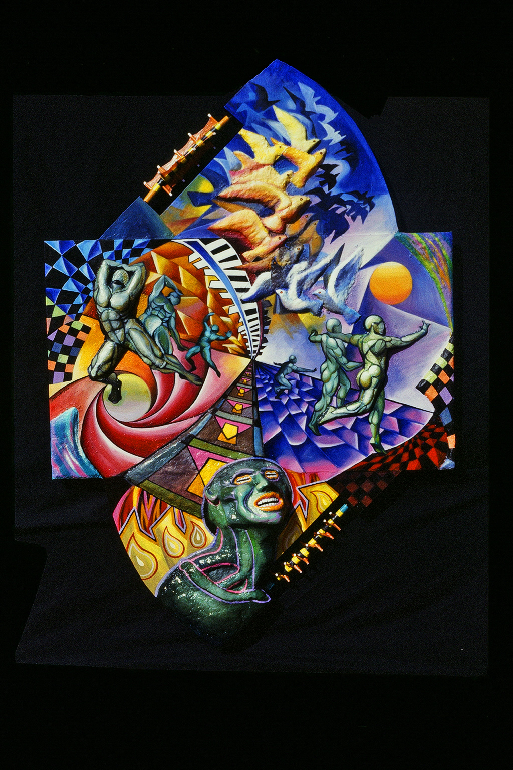 "Artwork: ""Heaven and Hell"" byEliseo Art Silva."