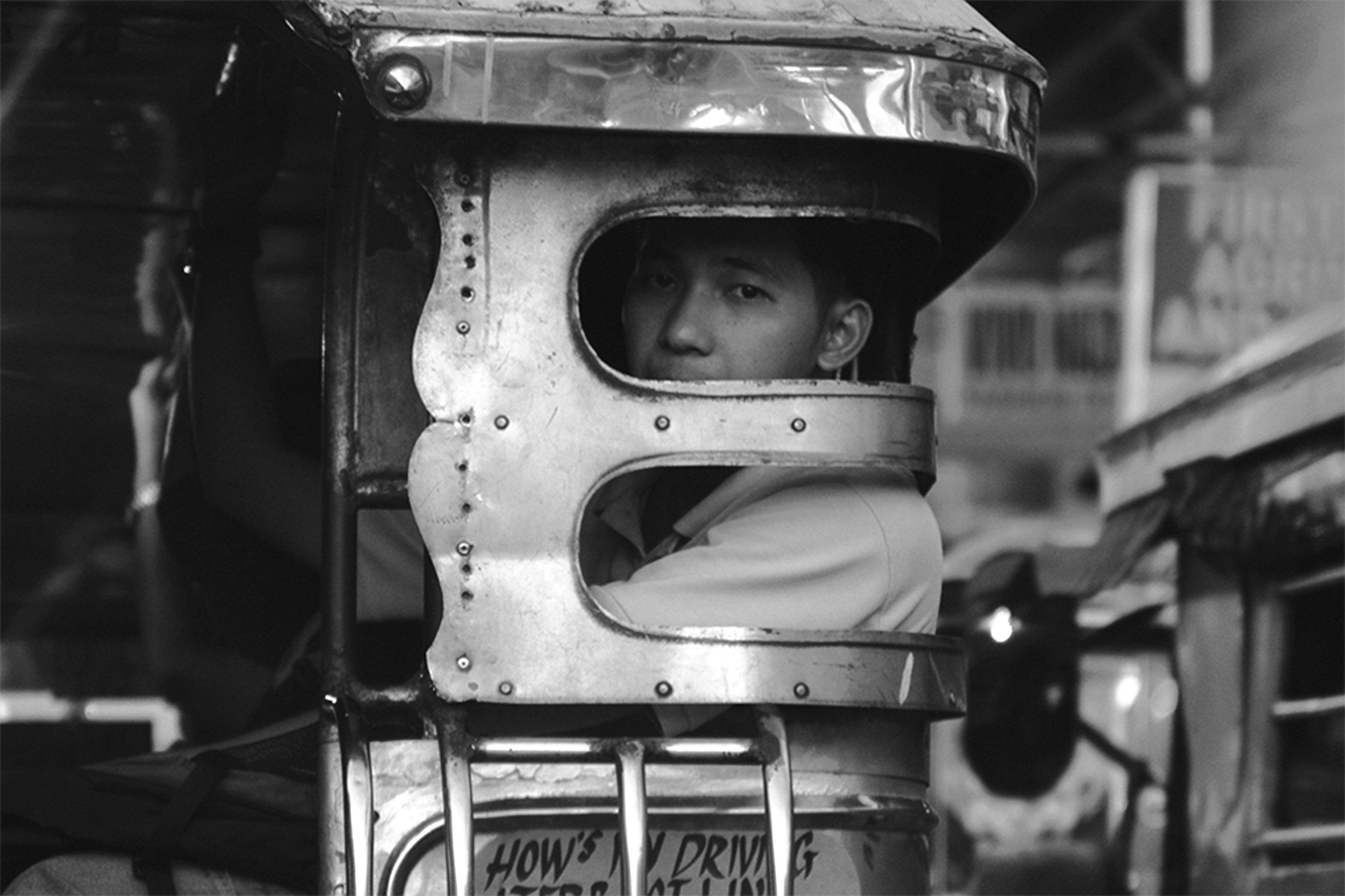 """""""Jeepney Gaze"""" by  Rodney Cajudo  (Credit:  TAYO  Issue Four)"""
