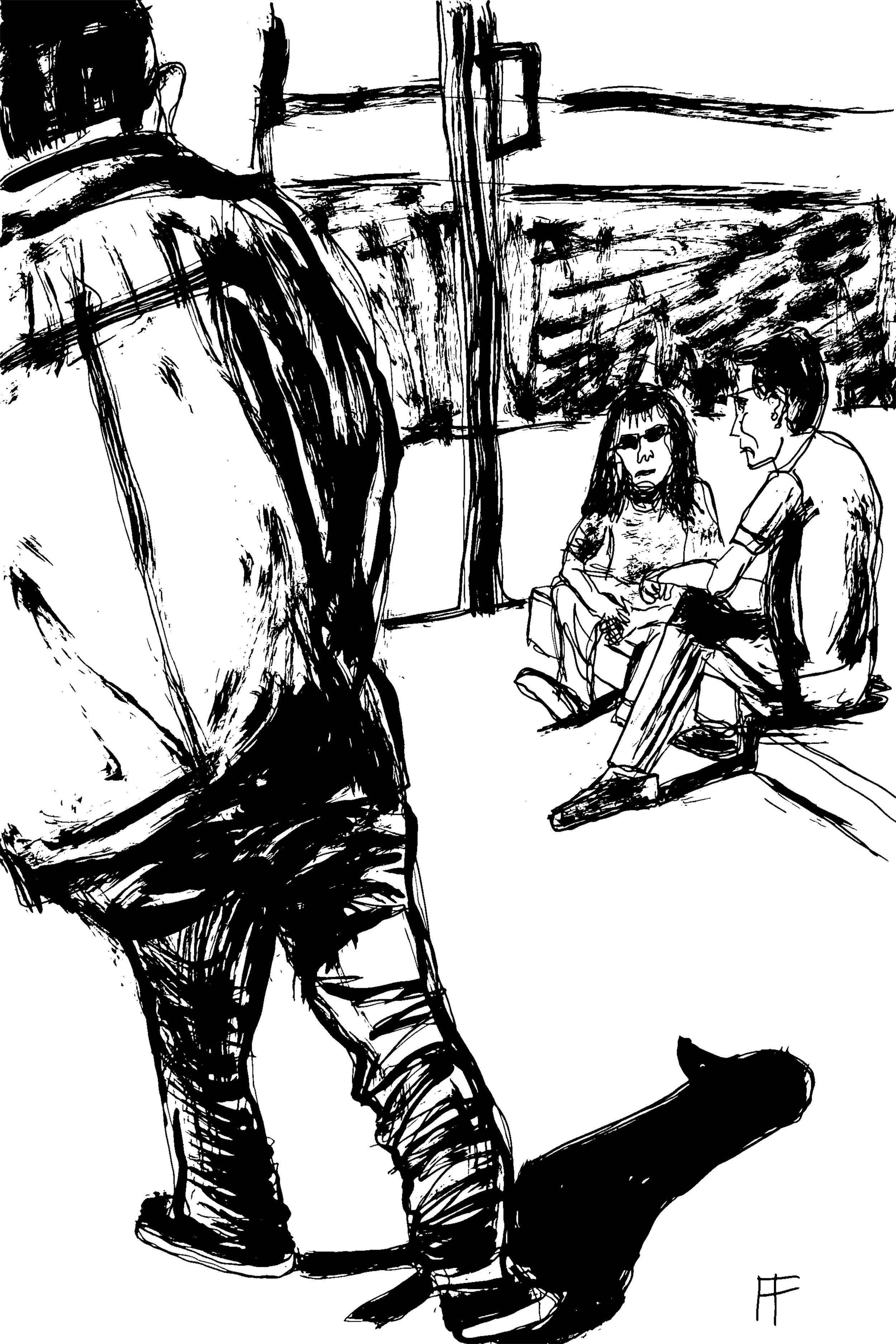 """Random Actors Walking and Waiting"" by  Allen Forrest"