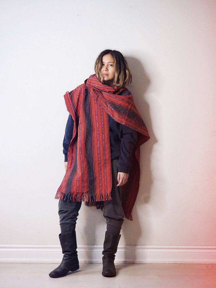 HAND-LOOMED IFUGAO PONCHO WRAP | Source:   Vinta Gallery