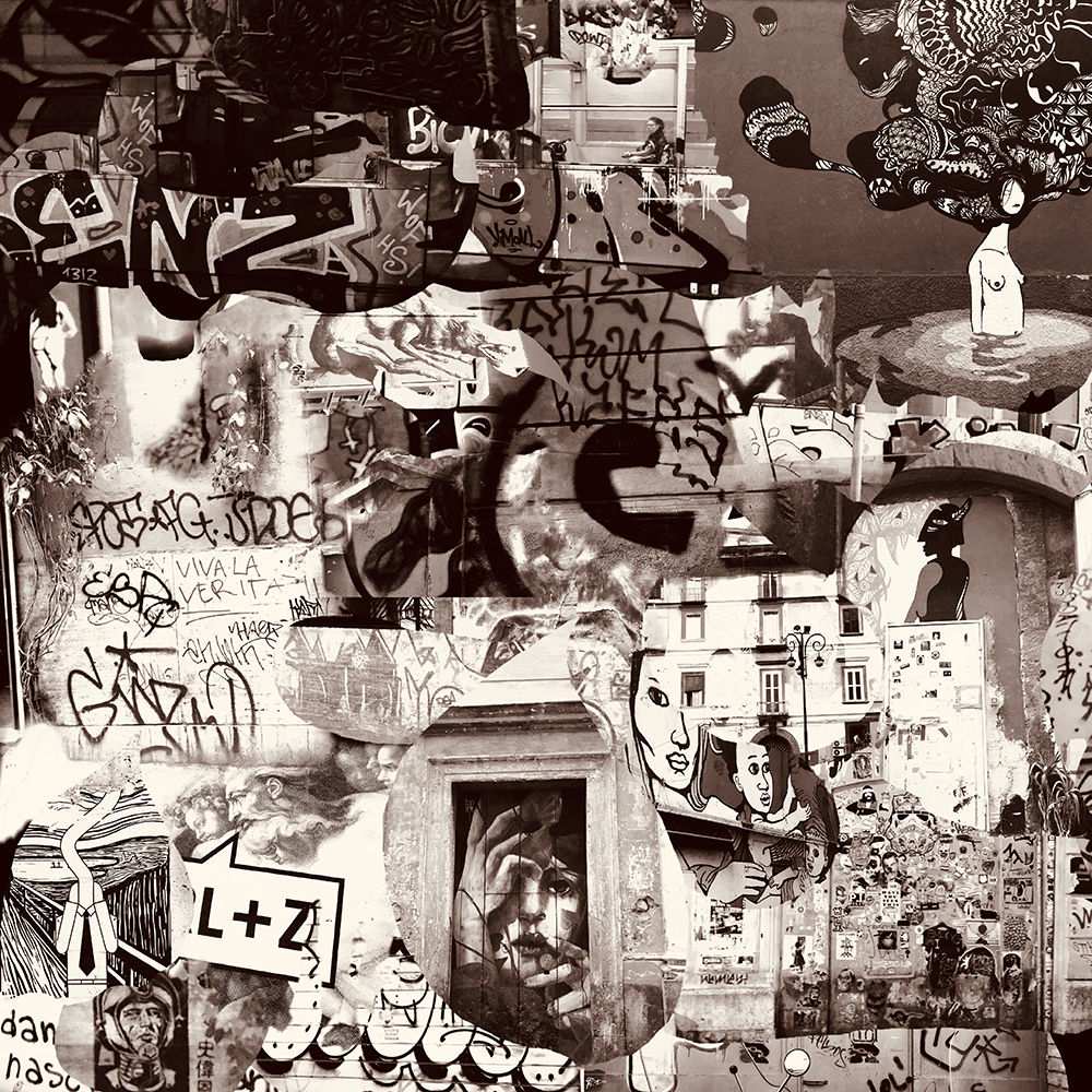 """Graffiti Collage"" by  Nelson Lowhim"