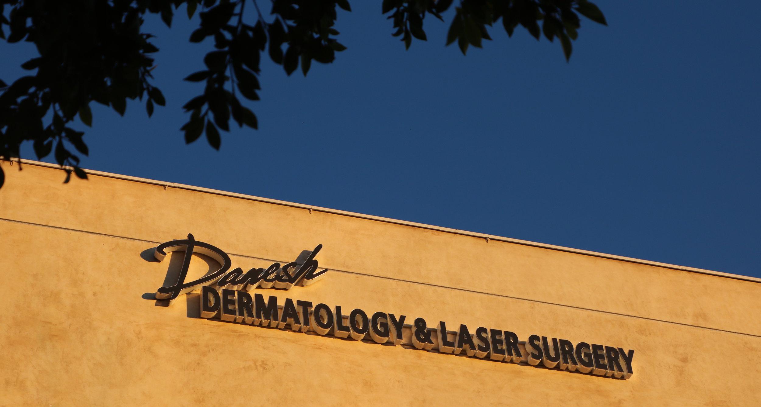 Danesh Dermatology Beverly Hills Sign