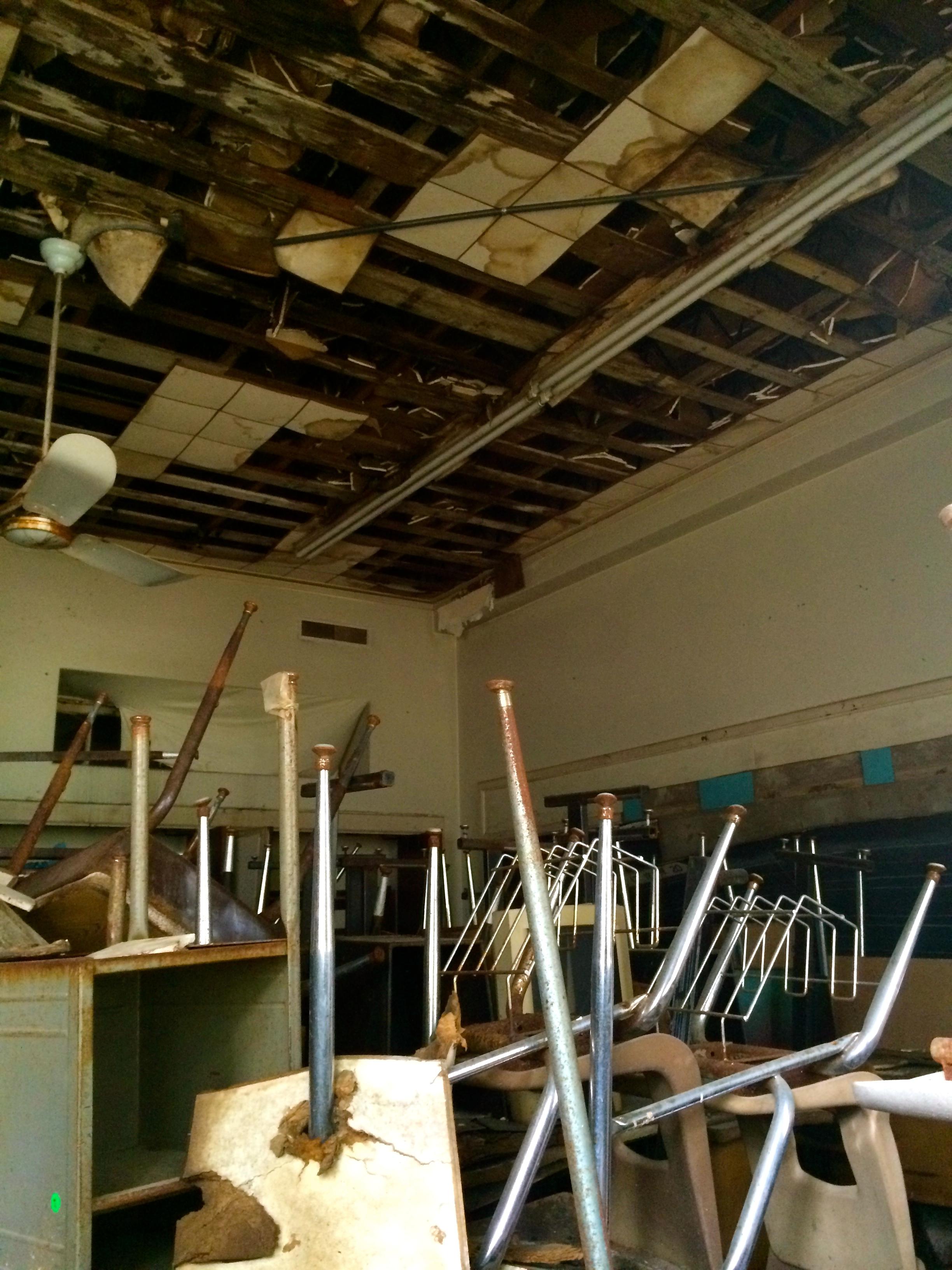 Premont, TX Abandon Secondary School Desks Color