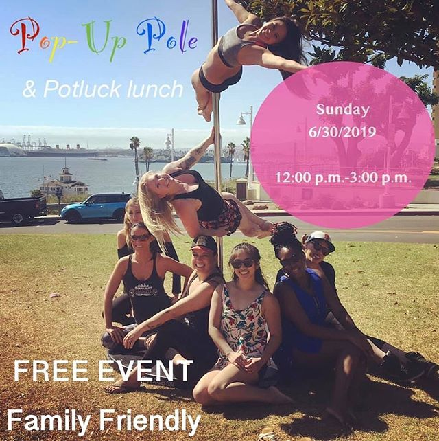 Looking forward to our potluck picnic with our #poletes 🍔🌭🥪🥗🥙 Join us at the Bluffs today at 12:00 for some pole play and great company. (Corner of Junipero and Ocean)