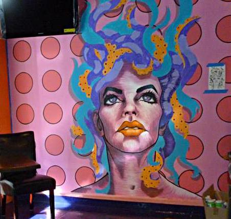Medusa Bar Mural (unfinished image)