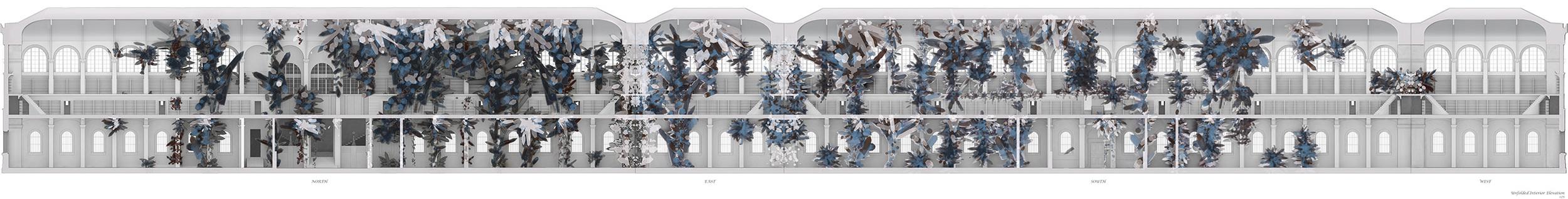 Unfolded Interior Elevation