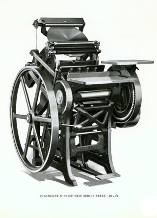1906 Chandler & Price 8x12 Letterpress