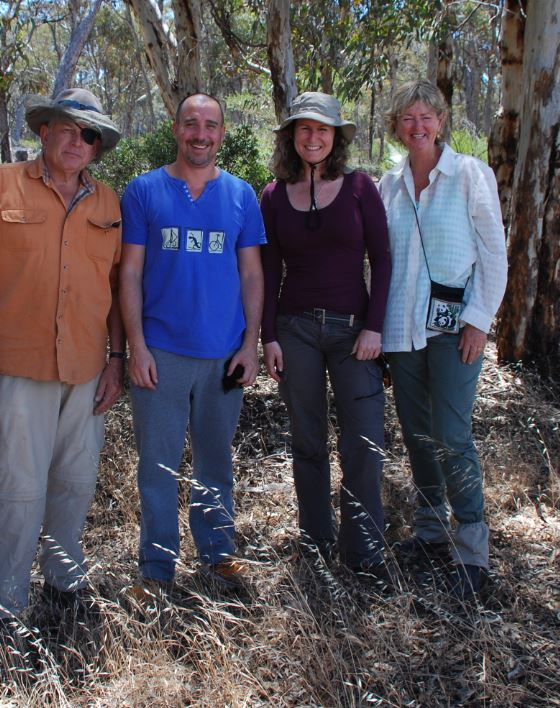 Project Numbats committed dig survey team; Chris Murphy, Jimmy Lamb, Yvette Adams and Deb Walker