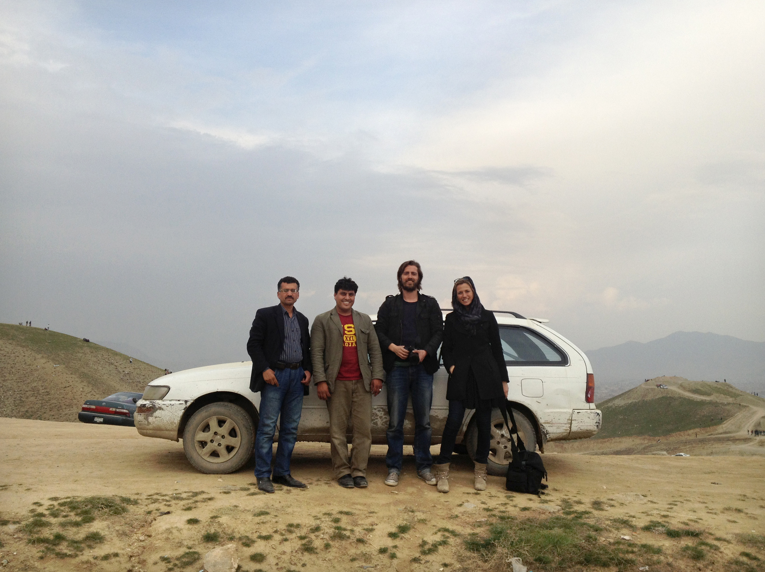 'The A-team': Najibullah, Zarif, Philip and me.