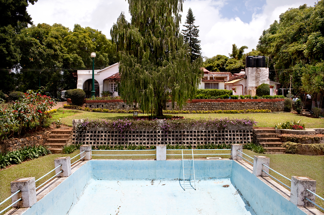 Coonor, India.  Colonial English swimming pool, now owned by an India family.