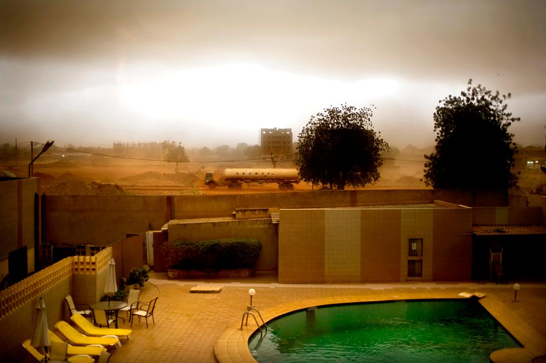 Ouagadougou, Burkina Faso.  Start of a heavy thunderstorm.