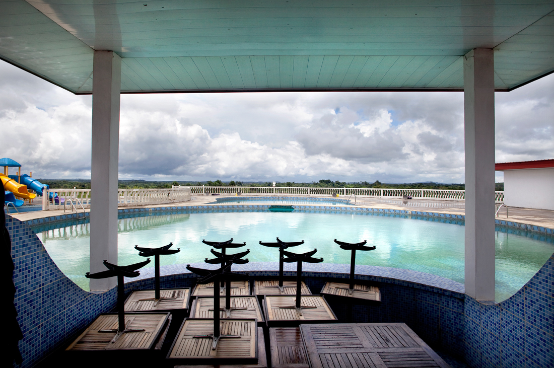 Gbonga, Liberia.  Swimming pool of the brother of Charles Taylor.