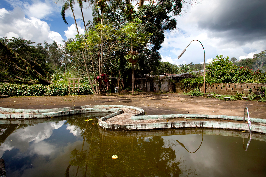 Near Monrovia, Liberia.  One of the swimming pools of the murdered President Tolbert.
