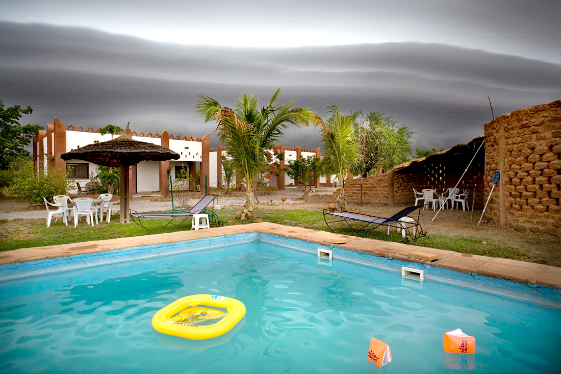 Weotinga, Burkina Faso. Two minutes before the flood came.