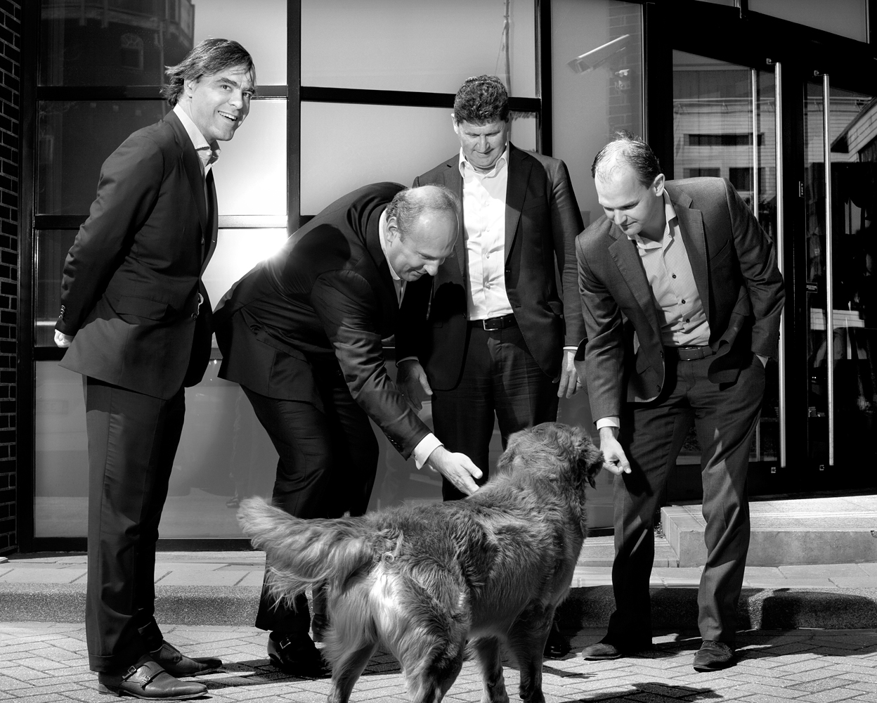 Management Pim Berger, Gerwin Schuring, Philip Dries and Hans Tuppe (Year Annual Schuberg Philis)