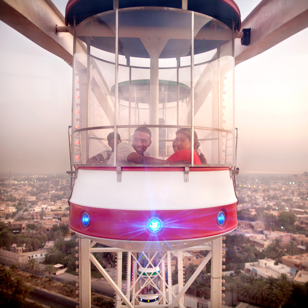 The big wheel in Zawra Park. Baghdadi families like to come here during the weekend.