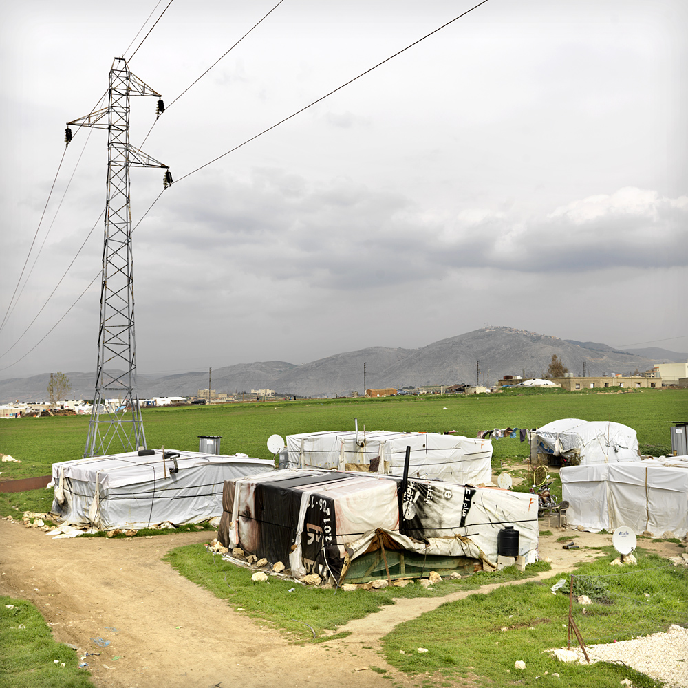 One of the many camps in the Bekaa Valley