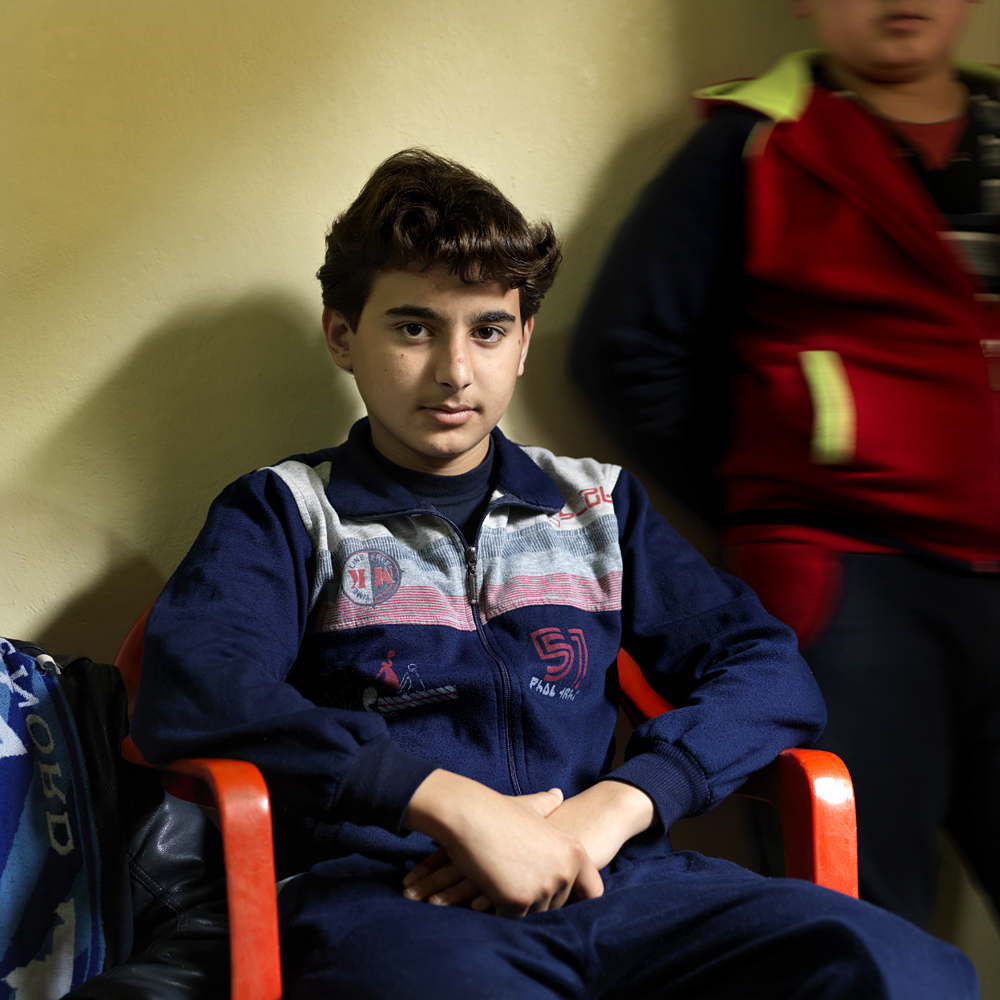 Bashar (14) from a village in the surroundings of Aleppo.