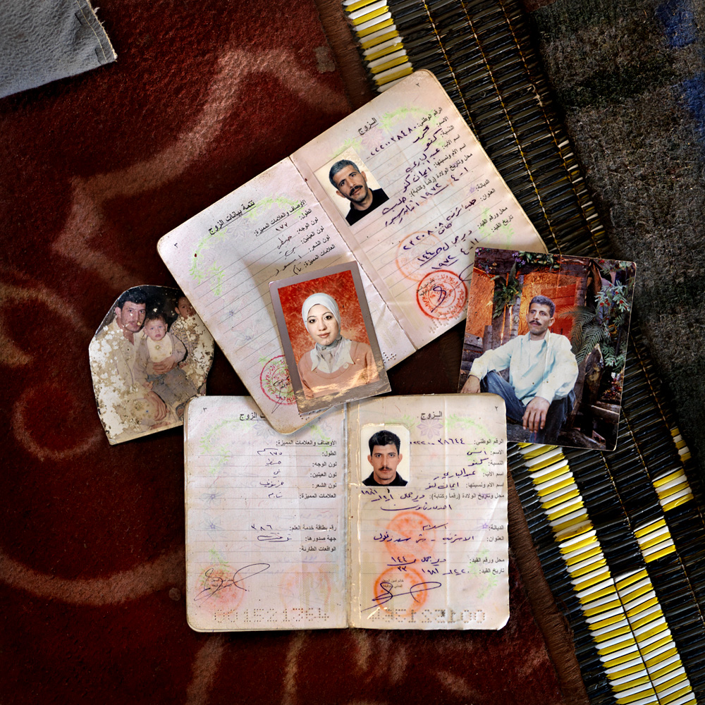 Photo's of Iyman's sons and daughter who got killed in the Syrian war by bombings and a sniper.