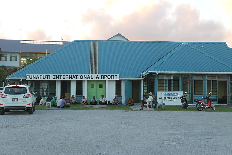 Funafuti International Airport Terminal Building. Photo Credit: lirneasia (cc-by-2.0)