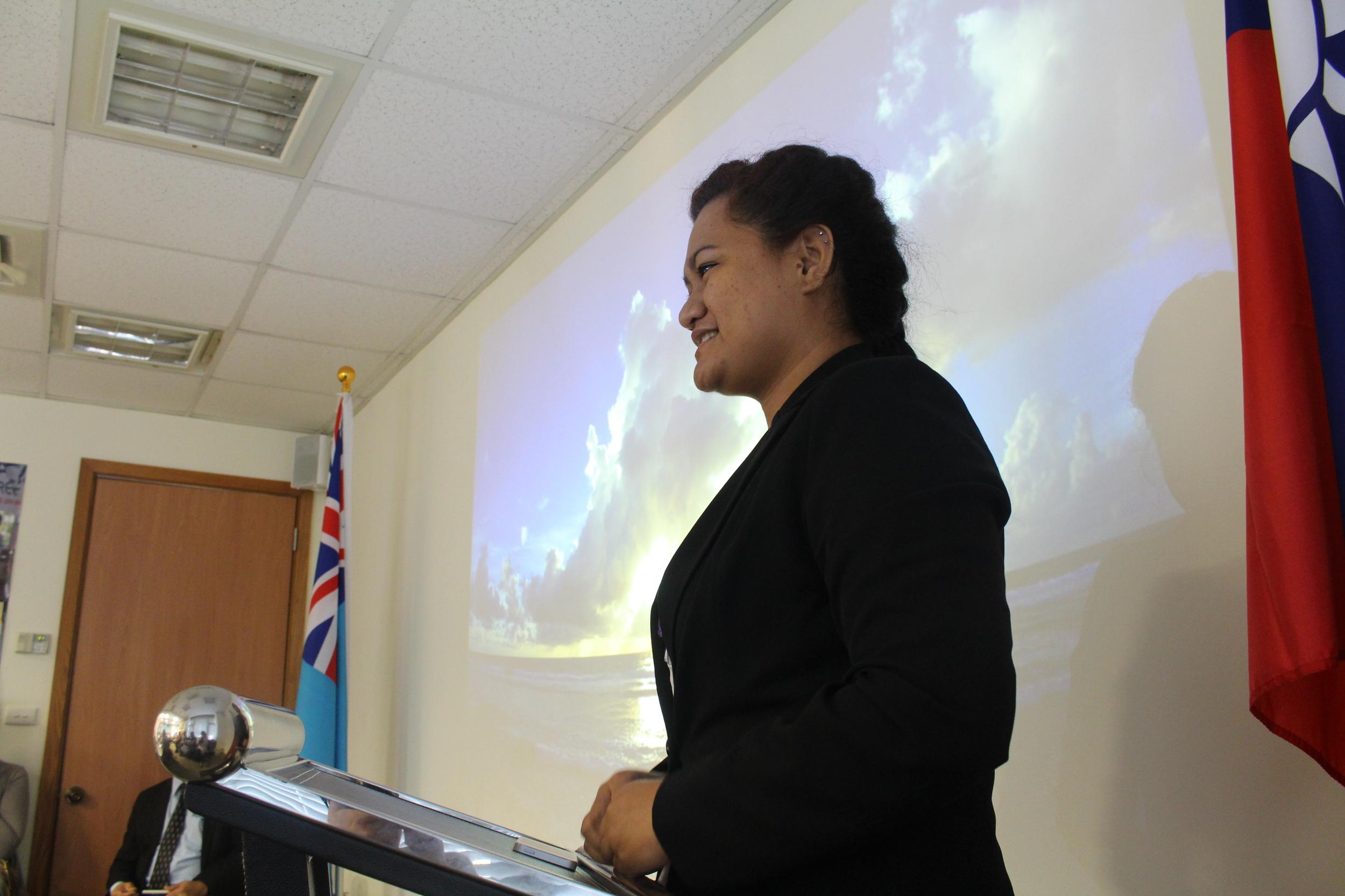 Speech by Tuvalu Student Association President Lafita Paeniu/吐瓦魯駐華學生會團長Lafita Paeniu致詞