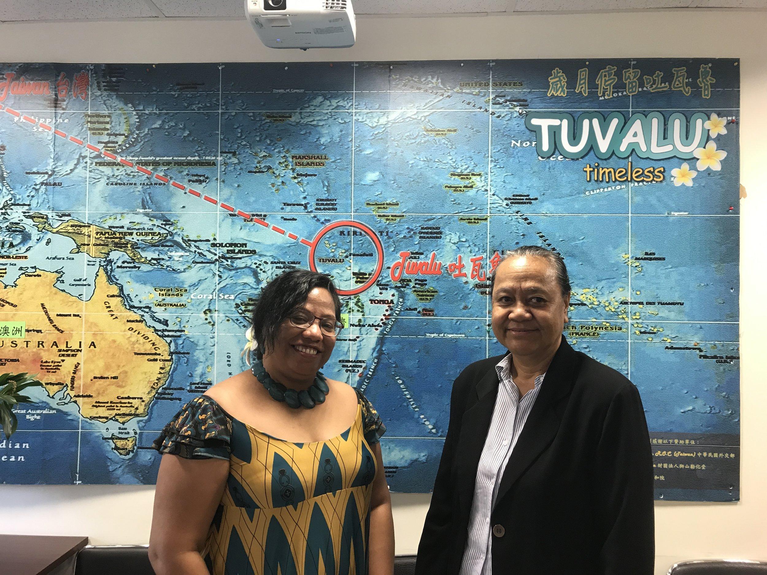 H.E. Ambassador Tessie Eria Lambourne and H.E. Ambassador Limasene Teatu