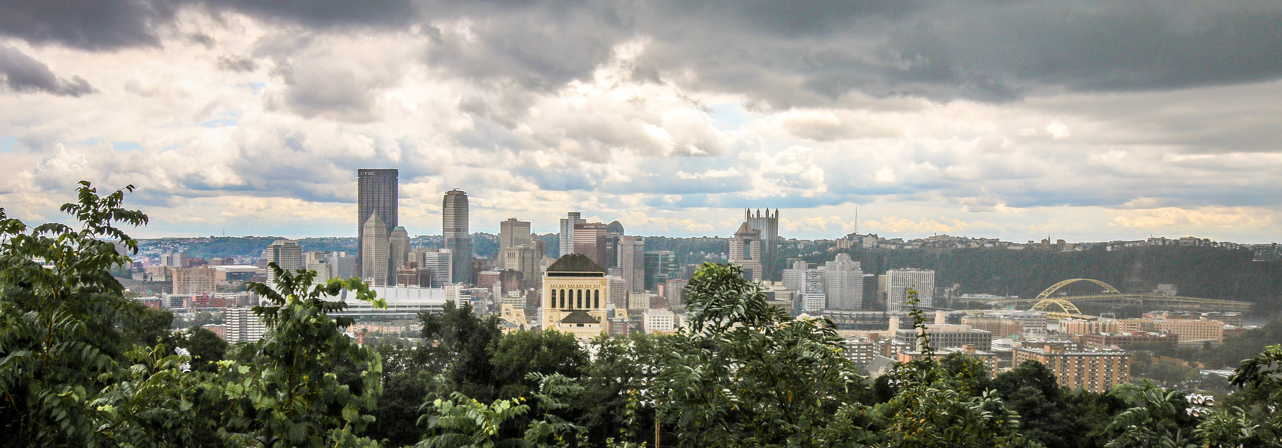 Pittsburgh from our neighborhood on the North Side, during a late summer rainstorm