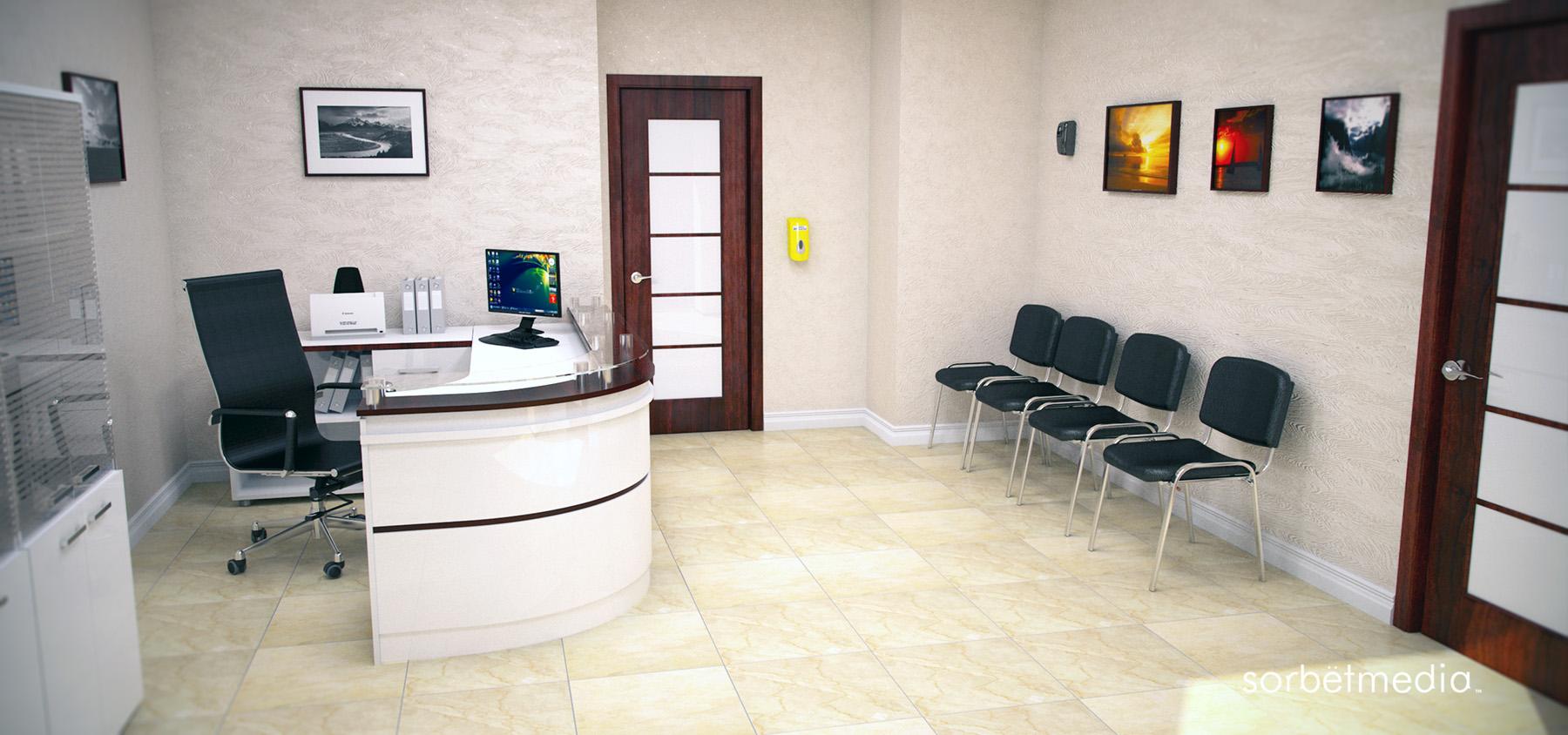 3D Surgery Reception Concept Visual