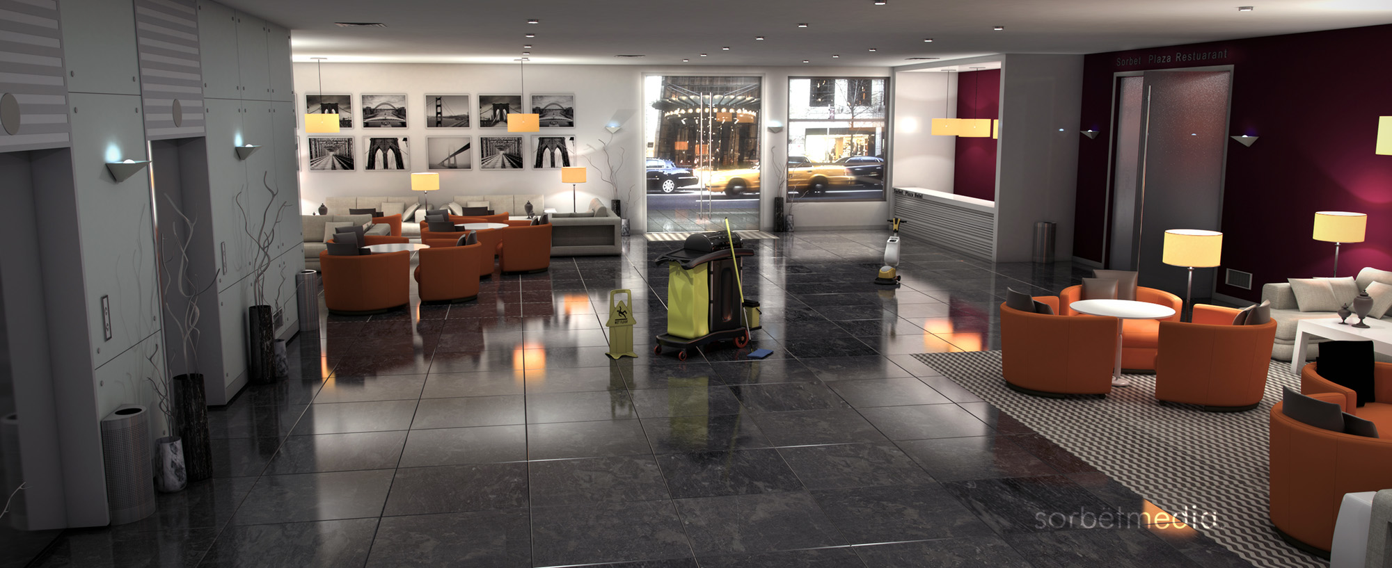 Hotel Reception 3D Concept Walkthrough