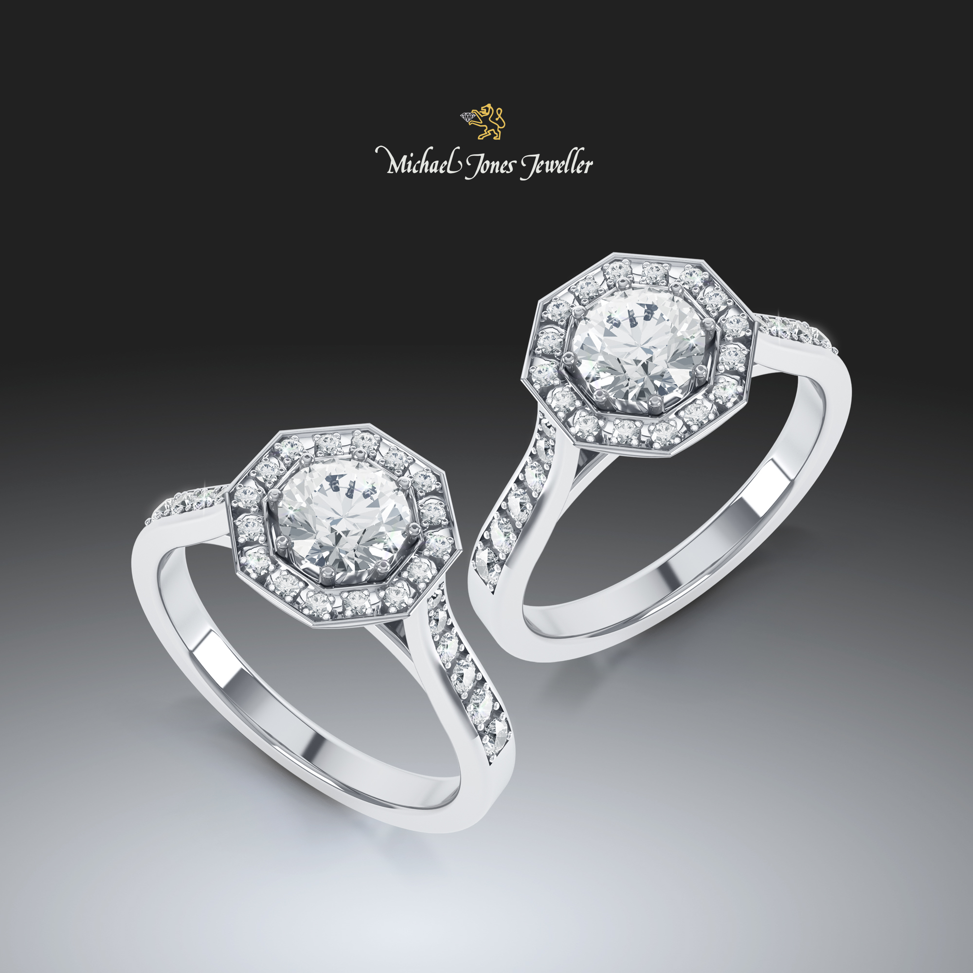 Halo Diamond Ring - Michael Jones Jewellers