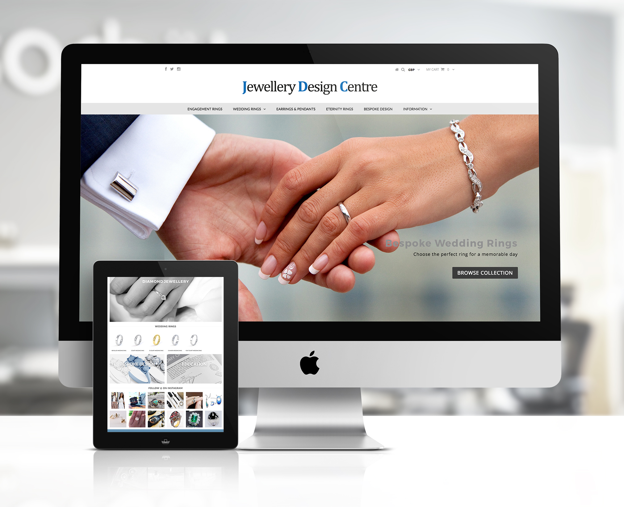 Jewellery Design centre website