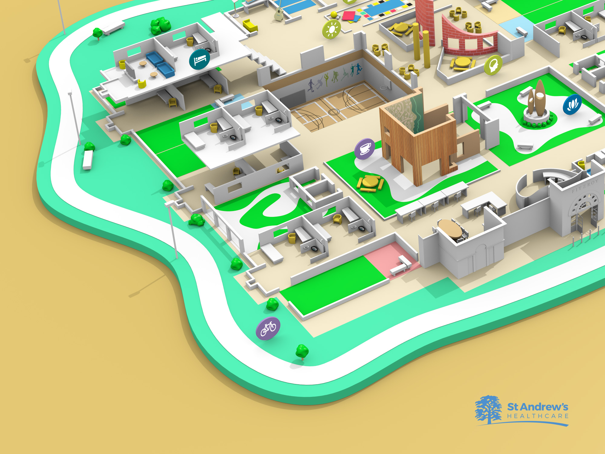 St_Andrews_Hospital_3D_Map_details